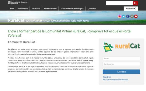 Screenshot of Login Page gencat.cat - Accedeix - Ruralcat - captured June 28, 2018