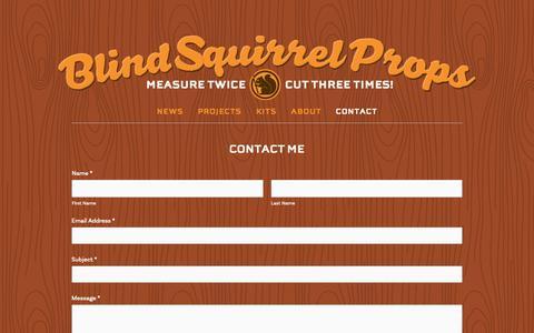Screenshot of Contact Page blindsquirrelprops.com - CONTACT — Blind Squirrel Props - captured Oct. 25, 2018
