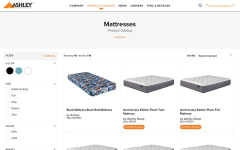 Mattresses - Corporate Website of Ashley Furniture Industries, Inc.
