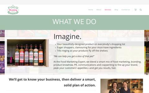 Screenshot of Services Page thefoodmarketingexpert.co.uk - Food Marketing Services | Food Marketing Agency - captured Dec. 15, 2016