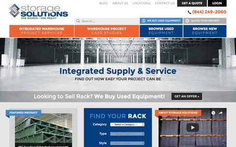 Screenshot of Login Page storage-solutions.com - Used Pallet Racks | Pallet Racks | Storage Solutions - captured Nov. 7, 2017