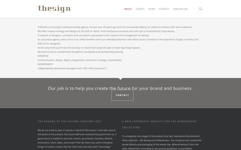 Screenshot of About Page thesign.biz - about |  THESIGN | Creative Branding Agency - captured Sept. 30, 2014