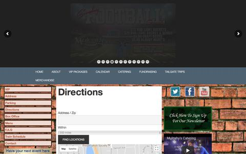 Screenshot of Maps & Directions Page muls.com - Directions - captured Oct. 21, 2017