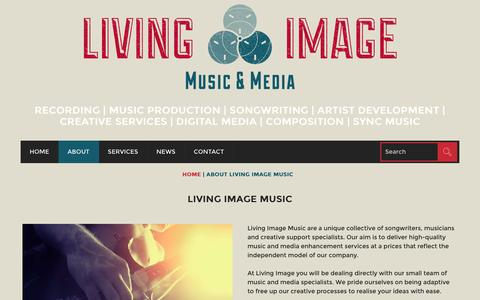 Screenshot of About Page livingimagemusic.com - Wiltshire Music & Media Services - Living Image Music - captured Dec. 11, 2015