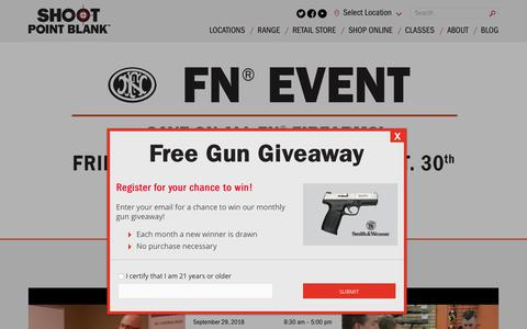 Screenshot of Home Page shootpointblank.com - Shoot Point Blank - Indoor Shooting Range & Gun Shop - captured Sept. 28, 2018