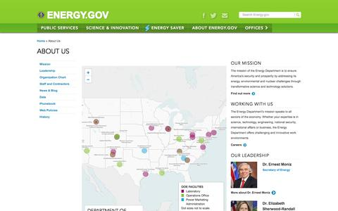 About Us | Department of Energy