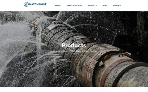 Screenshot of Products Page matchpointinc.us - Water Management Solution Products - Matchpoint - captured Oct. 17, 2017