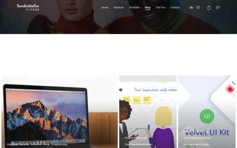 Screenshot of Blog sendinthefox.com - Blog – Sendinthefox  | Mobile Experience Designer | Design Thinking | HCD | Mobile UX UI  | Digital Transformation - captured Sept. 20, 2018