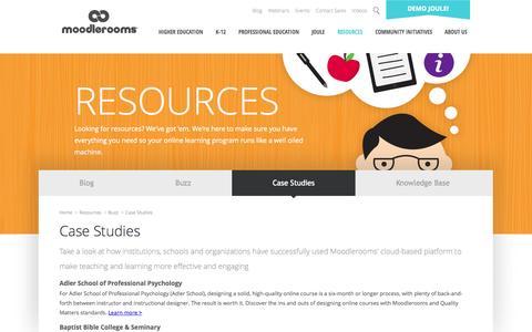 Screenshot of Case Studies Page moodlerooms.com - Case Studies | Customer Success Stories | Moodlerooms - captured Oct. 10, 2014