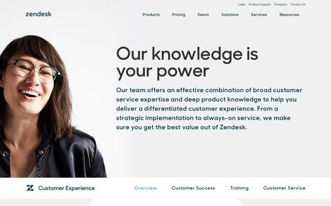 Screenshot of Services Page zendesk.com - Customer Experience   Zendesk - captured Dec. 13, 2016