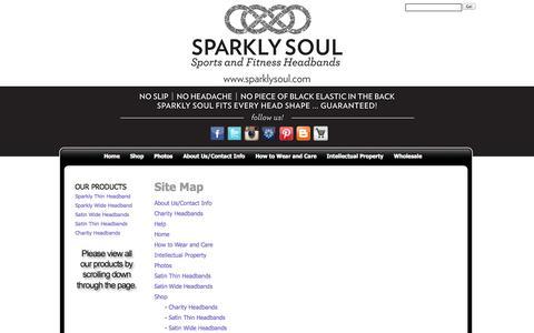 Screenshot of Site Map Page sparklysoul.com - Sparkly Soul - captured Oct. 9, 2014