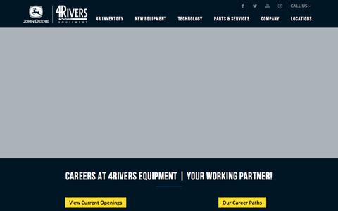 Screenshot of Jobs Page 4riversequipment.com - Careers | John Deere Sales Parts & Service | 4Rivers Equipment - captured July 20, 2019