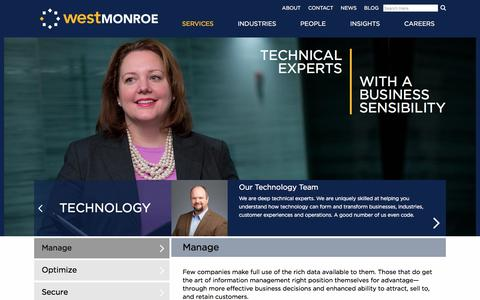Focus Areas | Technology | West Monroe Partners