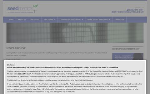 Screenshot of Press Page seedeisfund.co.uk - NEWS ARCHIVE | seedeisfund - captured Oct. 4, 2014