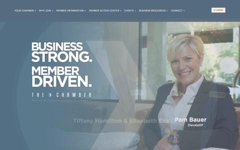 Screenshot of Home Page talchamber.com - Greater Tallahassee Chamber of Commerce - captured Nov. 13, 2016