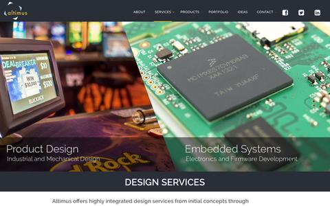 Screenshot of Services Page altimuspro.com - Product Design | Embedded Systems | Altimus Product Development Ltd. - captured Feb. 5, 2016