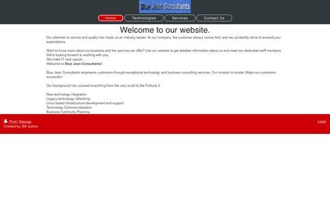 Screenshot of Home Page bj-consultants.com - - Home - captured Nov. 22, 2016