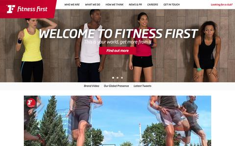 Welcome to Fitness First - Gyms & Heath Clubs