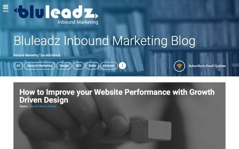 Screenshot of Blog bluleadz.com - Bluleadz Inbound Marketing Blog - captured Nov. 14, 2015