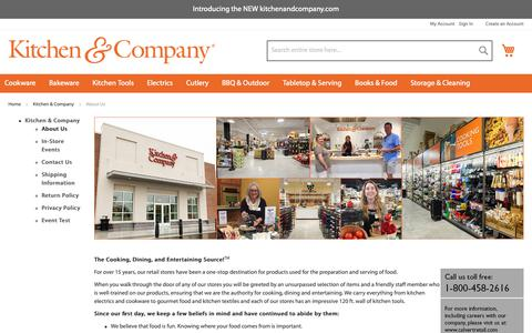 Screenshot of About Page kitchenandcompany.com - About Us - captured Sept. 29, 2018