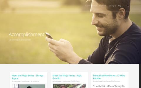 Screenshot of Blog mojotheapp.com - Blog |  Mojo - captured Oct. 26, 2014