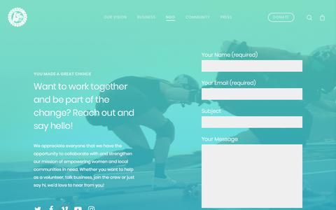 Screenshot of Contact Page longboardgirlscrew.com - Contact - Longboard Girls Crew - captured July 23, 2018