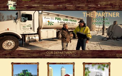 Screenshot of Home Page centrasota.com - Home - Centra Sota Cooperative - captured Jan. 23, 2015