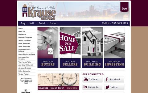 Screenshot of Home Page thekrauseteam.com - The Krause Team - captured Sept. 30, 2014