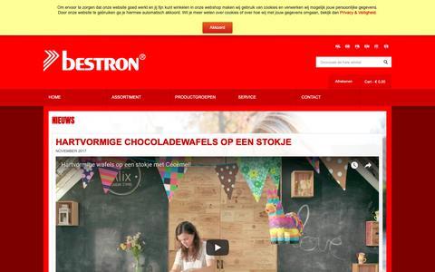 Screenshot of Press Page bestron.com - Bestron Nieuws - captured Oct. 5, 2018