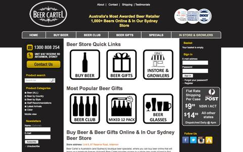 Screenshot of Testimonials Page beercartel.com.au - Buy Beer & Beer Gifts Online | Beer Cartel - captured Sept. 30, 2014