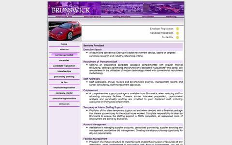 Screenshot of Services Page brunswick-group.com - Brunswick Services - captured Oct. 5, 2014