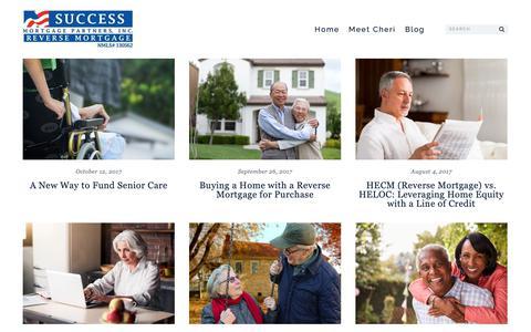 Screenshot of Blog reversemortgagessc.com - Blog   Success Mortgage Partners Reverse Mortgage SC - captured Feb. 15, 2019