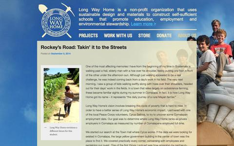 Screenshot of Blog lwhome.org - | Long Way Home - Building Sustainable Schools - captured Oct. 3, 2014