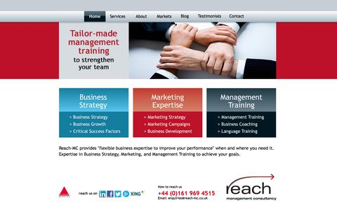 Screenshot of Home Page reach-mc.co.uk - Management Consultancy | Business Consultant | reach-mc - captured Oct. 7, 2014
