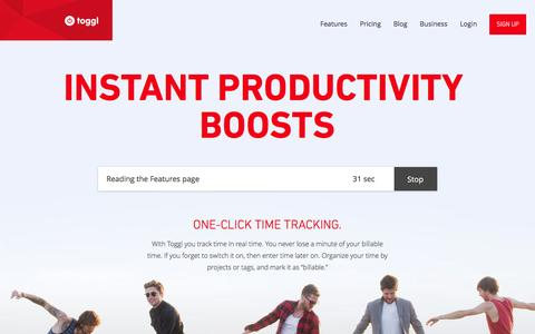 Toggl Features: calculate work hours & billable hours, employee timesheets