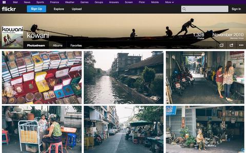 Screenshot of Flickr Page flickr.com - Flickr: kowani's Photostream - captured Nov. 3, 2014