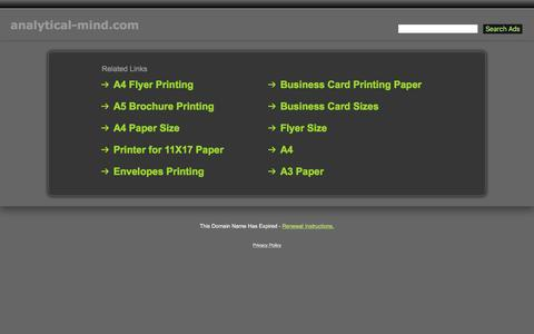 Screenshot of Home Page analytical-mind.com - Analytical-Mind.com - captured April 13, 2016