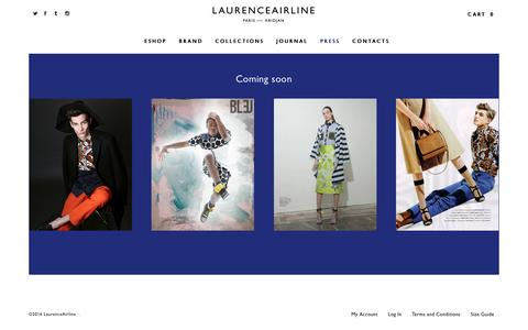 Screenshot of Press Page laurenceairline.com - Press | Laurence Airline - captured July 9, 2016