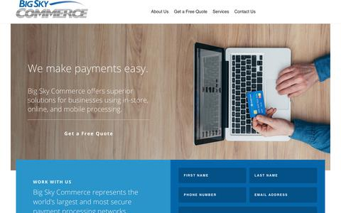 Screenshot of Home Page bigskycommerce.com - Big Sky Commerce - captured Aug. 2, 2018