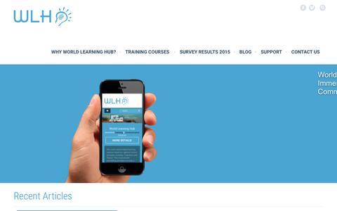 Screenshot of Home Page world-learning-hub.com - Home - World Learning Hub - captured Feb. 15, 2016