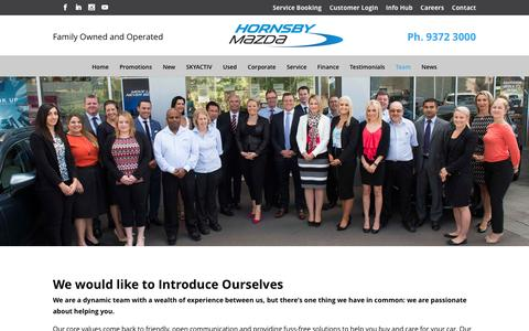 Screenshot of Team Page hornsbymazda.com.au - Hornsby Mazda Team Sydney Australia - captured May 22, 2017