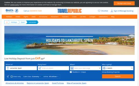 Cheap Holidays to Lanzarote 2017/2018 | Travel Republic