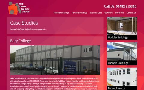 Screenshot of Case Studies Page lewisashleygroup.com - Case Studies | Lewis Ashley Group - captured Nov. 6, 2016