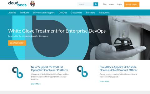 Screenshot of Home Page cloudbees.com - CloudBees | Enterprise Jenkins and DevOps - captured April 19, 2018