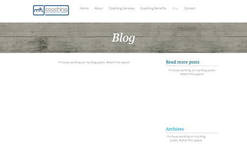 Screenshot of Blog mtlcoaching.com - Empowerment coaching for wellness awareness, self-care and soul-care.  | Blog - captured July 26, 2018