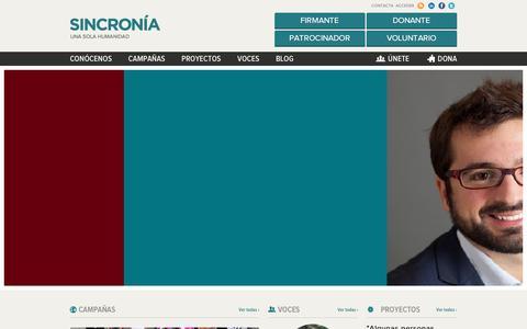 Screenshot of Home Page sincronia.org - Sincronia - captured Feb. 16, 2016