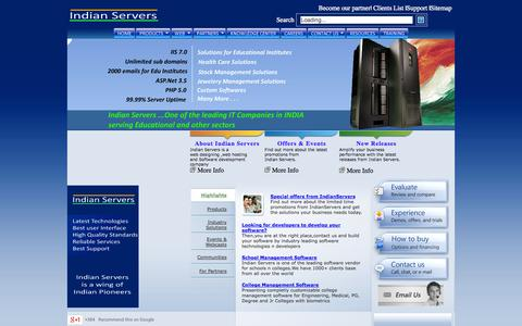 Screenshot of Home Page Terms Page indianservers.com - Offshore Software development,IT Company in India , software development in hyderabad , chennai , Webhosting in India , BPO - captured Sept. 25, 2014
