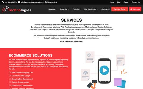 Screenshot of Services Page webdevelopmentpark.com - Best Ecommerce solutions – Web Development Park in UK, US and Australia | webdevelopmentpark.com - captured Sept. 17, 2016