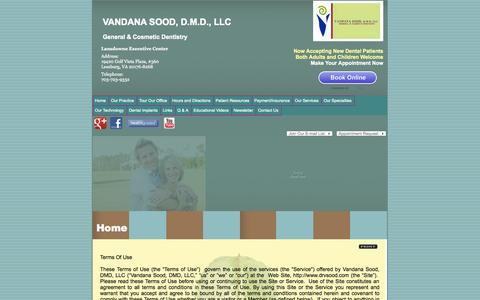 Screenshot of Terms Page drvsood.com captured Oct. 7, 2014