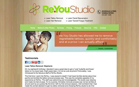 Screenshot of Testimonials Page reyoustudio.com - Testimonials - captured Oct. 26, 2014